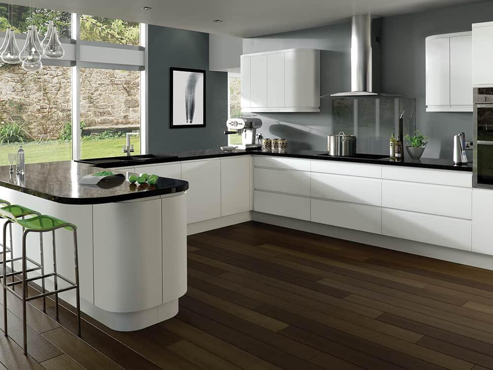 Integra Matt White Kitchen Kirkintilloch Falkirk - Kitchen Design Ideas