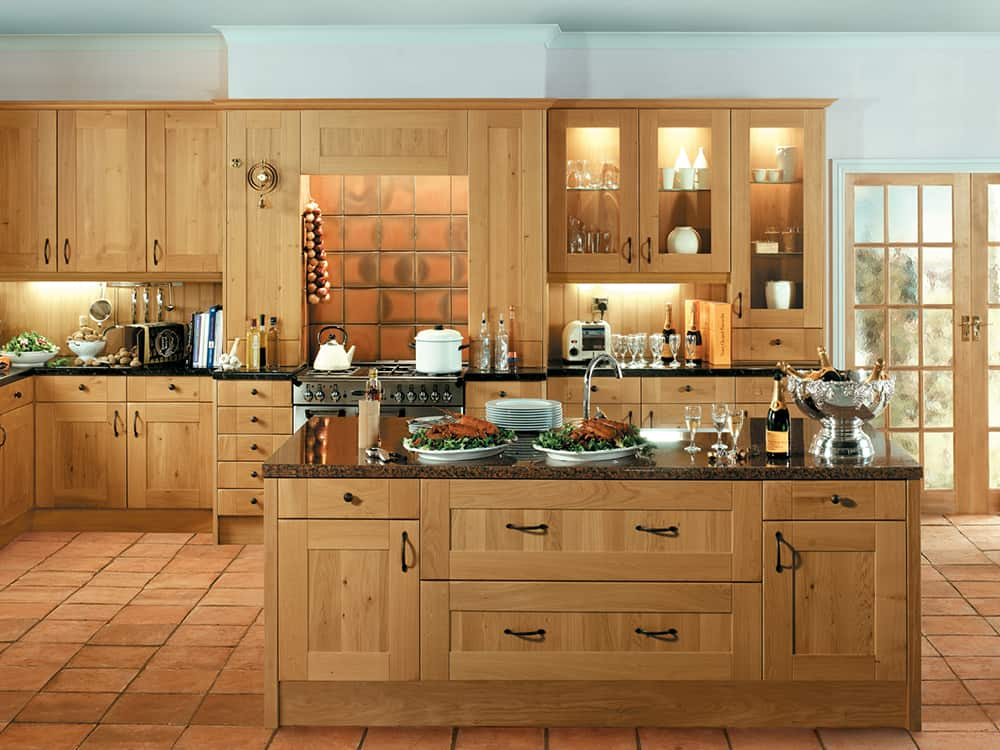 Shaker Winchester Oak Kitchen Kirkintilloch Falkirk - Kitchens