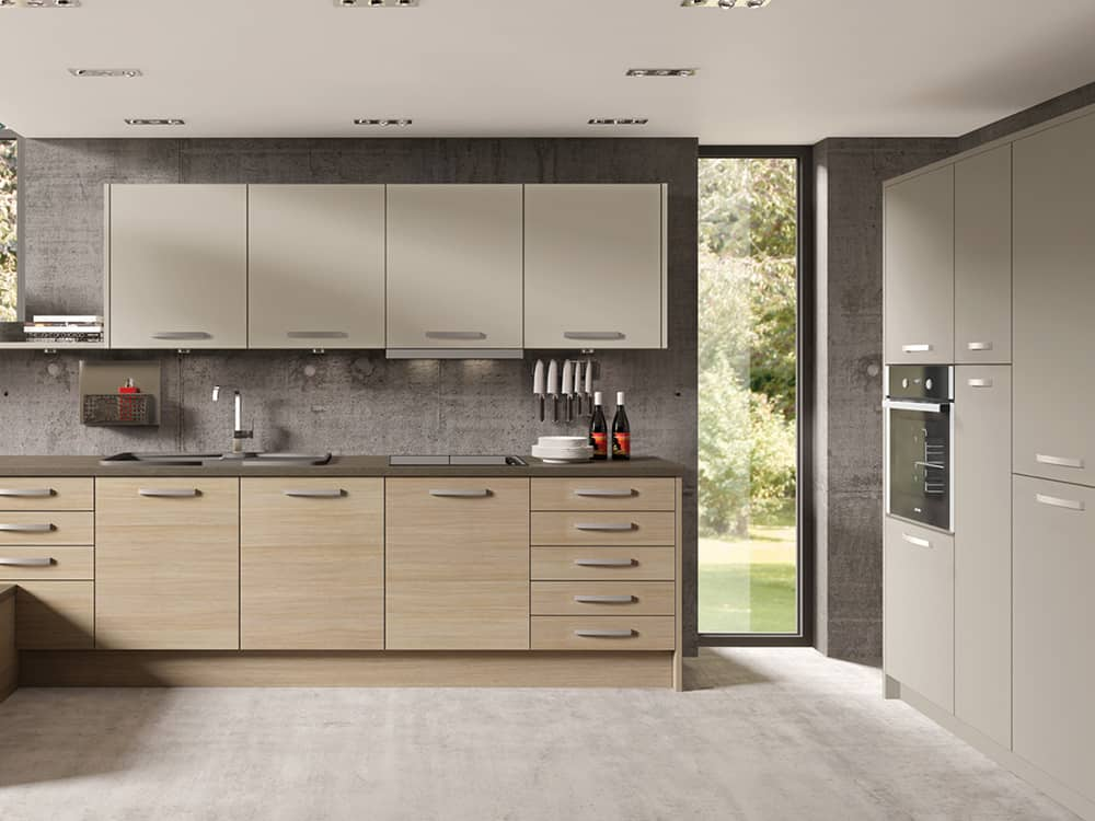 tempo aaragon oak stone grey - Kitchens Falkirk – Kitchen Design Falkirk